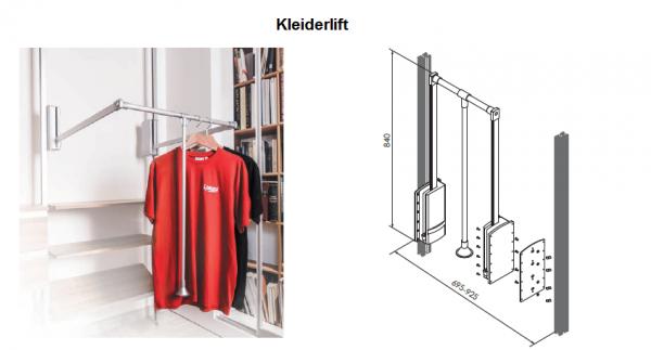 Kleiderlift für begehbare Kleiderschränke