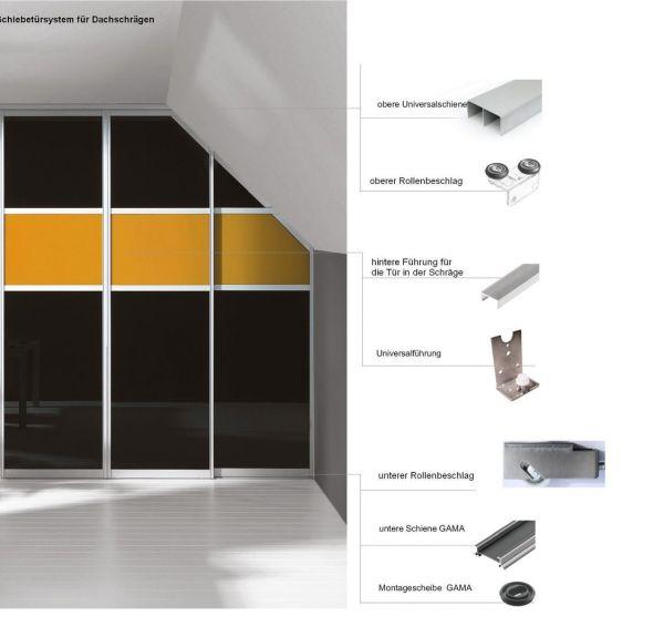 Schiebetürsystem für Dachschräge, Kniestock