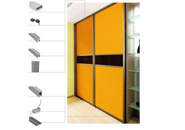 Bausatz für 2 Türen Breite bis 2000 mm und Höhe 2700 mm, OHNE Füllungsmaterial