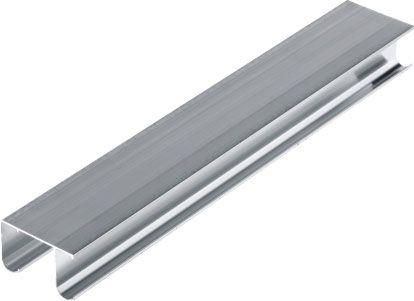doppelläufige Führungsschiene aus Aluminium