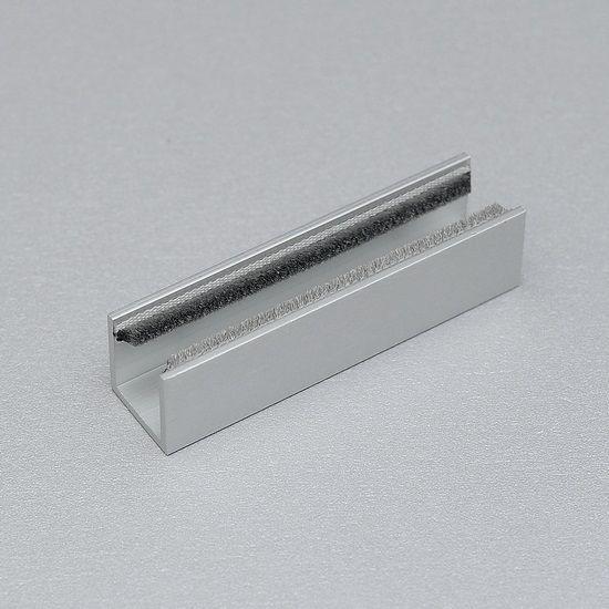 Untere Führungsstück für 8 mm Glastüren eloxiert, Länge 40 mm