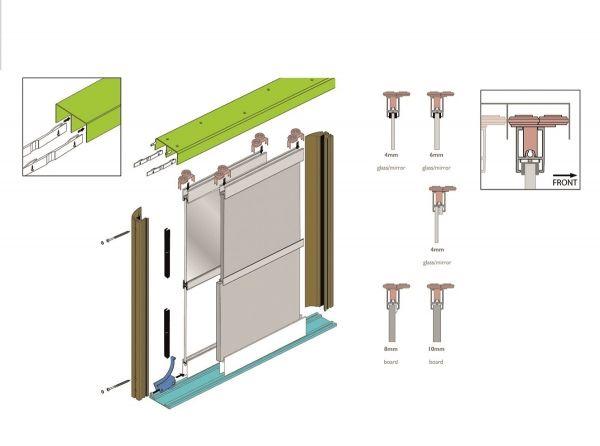 TWIN für Breite bis 2000 mm und Höhe 2700 mm, OHNE Füllungsmaterial