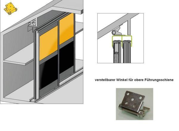 verstellbare Winkel für Dachschrägenmontage